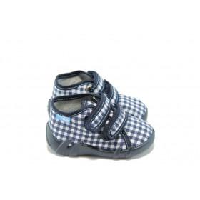 Детски обувки - висококачествен текстилен материал - сини - EO-3311