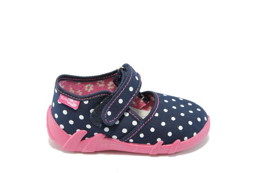Детски обувки - висококачествен текстилен материал - сини - МА 13-105 сини-точки 20/27