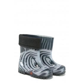 Гумени детски ботуши - висококачествен pvc материал - сиви - EO-9383