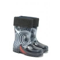 Гумени детски ботуши - висококачествен pvc материал - сиви - EO-9388