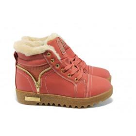 Детски ботуши - висококачествена еко-кожа - розови - EO-5196