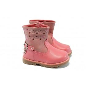 Детски ботуши - висококачествена еко-кожа - розови - EO-5358
