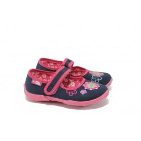 Детски обувки - висококачествен текстилен материал - сини - EO-5692
