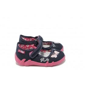 Детски обувки - висококачествен текстилен материал - сини - EO-5693