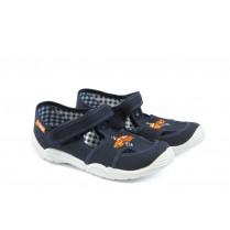 Детски сандали - висококачествен текстилен материал - сини - EO-4454