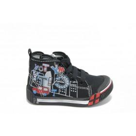 Детски обувки - висококачествен pvc материал и текстил - черни - EO-3152