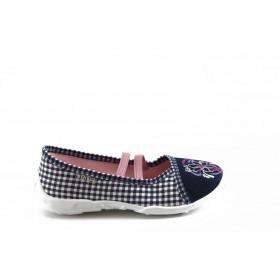 Детски обувки - висококачествен текстилен материал - сини - EO-3379