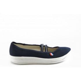 Детски обувки - висококачествен текстилен материал - сини - EO-3380