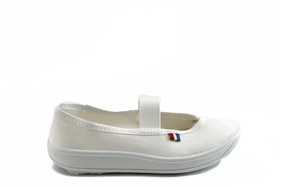 Детски обувки - висококачествен текстилен материал - бели - EO-3386