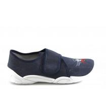 Детски обувки - висококачествен текстилен материал - сини - EO-3383