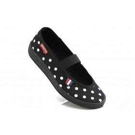 Детски обувки - висококачествен текстилен материал - черни - EO-3389