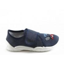 Детски обувки - висококачествен текстилен материал - сини - EO-5669