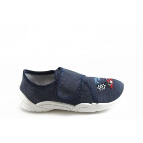 Детски обувки - висококачествен текстилен материал - тъмносин - EO-3387