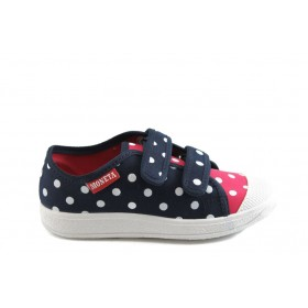 Детски обувки - висококачествен текстилен материал - сини - EO-3397
