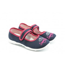 Детски обувки - висококачествен текстилен материал - сини - EO-3483