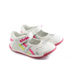 Детски обувки - висококачествена еко-кожа - бели - EO-3539