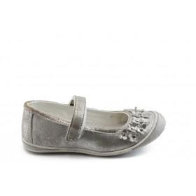 Детски обувки - висококачествена еко-кожа - сиви - EO-3542