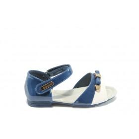 Детски сандали - еко кожа-лак - сини - EO-3924