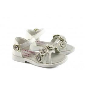 Детски сандали - висококачествена еко-кожа - бели - EO-4401