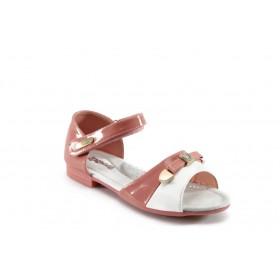 Детски сандали - еко кожа-лак - розови - EO-4403