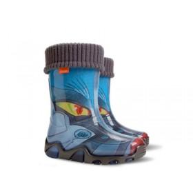 Гумени детски ботуши - висококачествен pvc материал - сини - EO-9382
