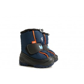 Детски ботуши - висококачествен pvc материал и текстил - тъмносин - EO-5412