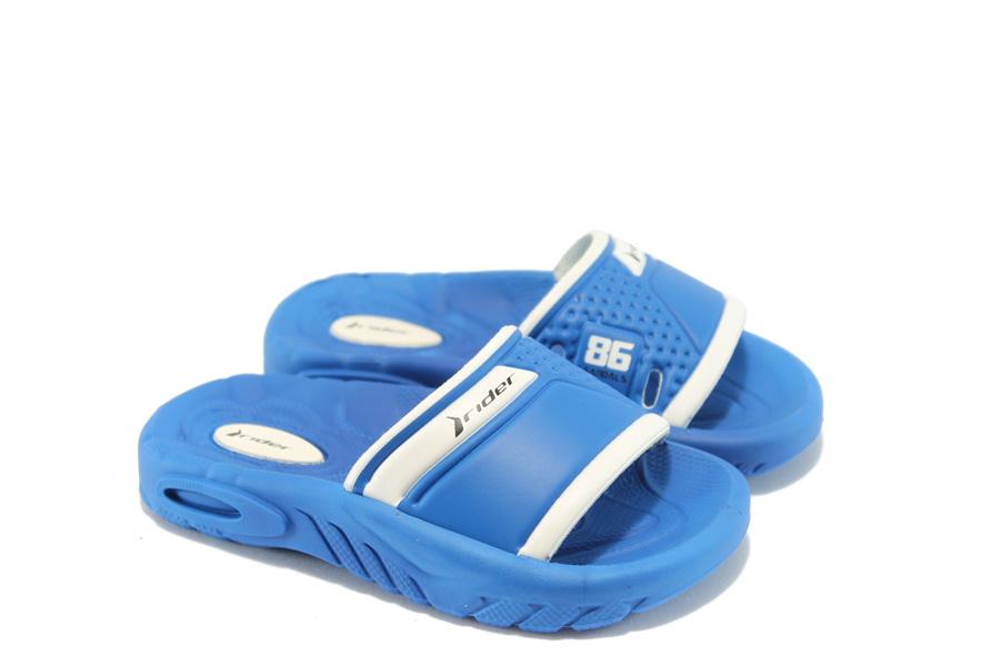 Детски чехли - висококачествен pvc материал - сини - EO-3942