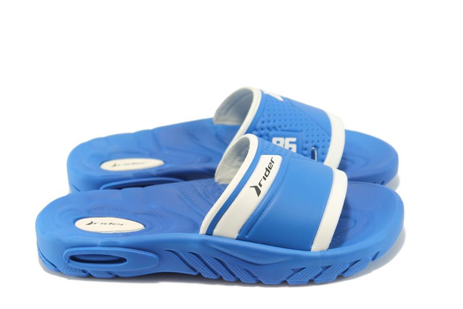Детски чехли - висококачествен pvc материал - сини - EO-4420