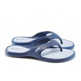 Дамски чехли - висококачествен pvc материал - сини - EO-1427