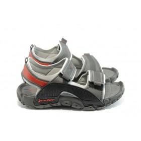 Детски сандали - висококачествен pvc материал - сиви - EO-3892