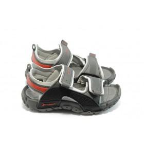 Детски сандали - висококачествен pvc материал - сиви - EO-3901