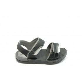 Детски сандали - висококачествен pvc материал - черни - EO-3913