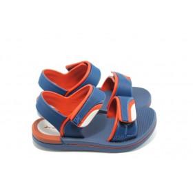 Детски чехли - висококачествен pvc материал - сини - EO-3914