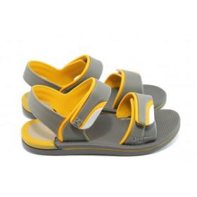 Детски сандали - висококачествен pvc материал - сиви - EO-3910