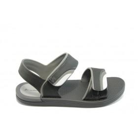 Детски сандали - висококачествен pvc материал - черни - EO-3916