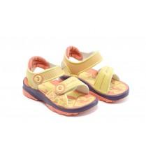 Детски сандали - висококачествен pvc материал - жълти - EO-3911
