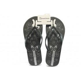 Дамски чехли - висококачествен pvc материал - черни - EO-3880