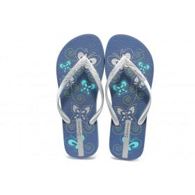 Дамски чехли - висококачествен pvc материал - сини - EO-3962