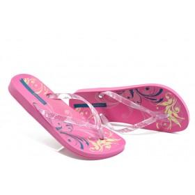 Дамски чехли - висококачествен pvc материал - розови - EO-3966
