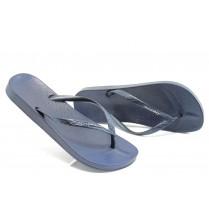 Дамски чехли - висококачествен pvc материал - сини - EO-8608