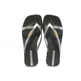 Дамски чехли - висококачествен pvc материал - черни - EO-3974