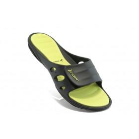 Дамски чехли - висококачествен pvc материал - зелени - EO-3957