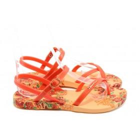 Дамски сандали - висококачествен pvc материал - оранжеви - EO-3986