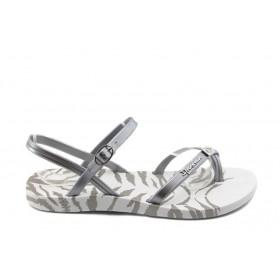 Дамски сандали - висококачествен pvc материал - сиви - EO-3991