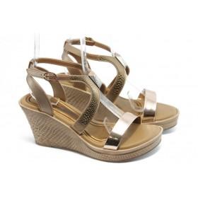 Дамски сандали - висококачествен pvc материал - бежови - EO-3996