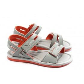 Дамски сандали - висококачествен pvc материал - сиви - EO-3995