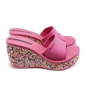 Дамски чехли - висококачествен pvc материал - розови - EO-3999