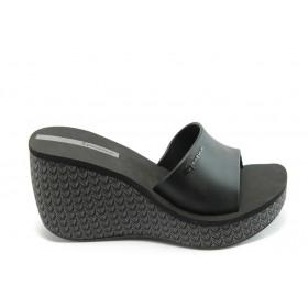 Дамски чехли - висококачествен pvc материал - черни - EO-4000