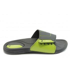 Мъжки чехли - висококачествен pvc материал - зелени - EO-4019