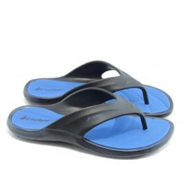 Мъжки чехли - висококачествен pvc материал - сини - EO-4017